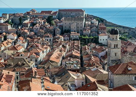 Franciscan Church and Monastery seen from Walls of Dubrovnik Croatia