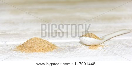 White Spoon With Brown Sugar