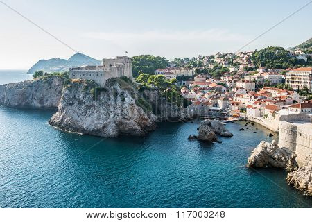 Fort Lovrijenac seen from Walls of Dubrovnik Croatia