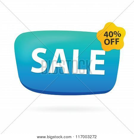 Discount sign with forty percent offer