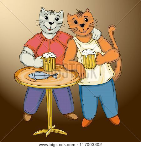 two funny cat beerlover