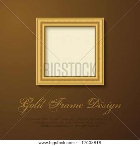 Gold Frame for text, picture, photo or your design.