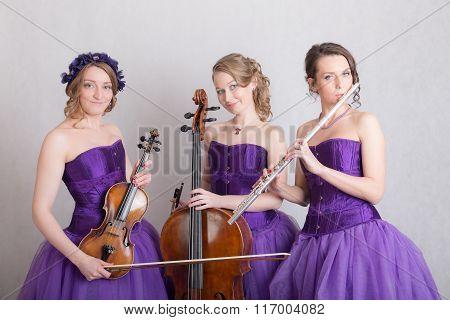 Portrait Of A Musical Trio