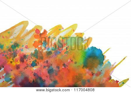 Abstract splashes of watercolor on white background, vector  illustration