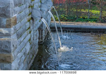 Water Supply For A Garden Pond.