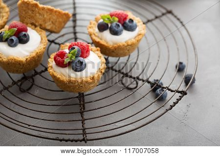 Granola cups with yogurt and fresh berries