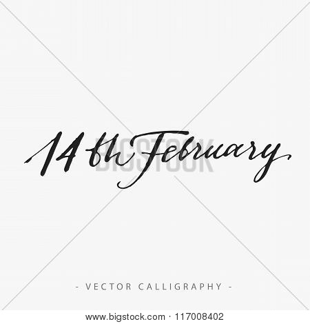 Fourteenth of February Calligraphy
