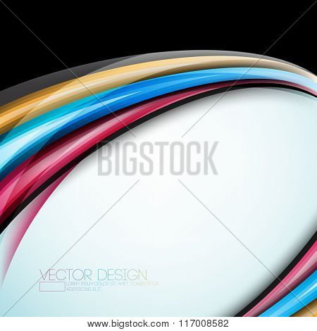 multicolor overlapping colorful abstract lines cartoon effect design