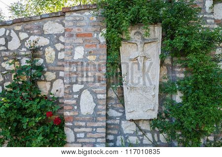 Small shrine in Mikulov town in Czech Republic