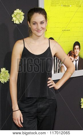Shailene Woodley at the Los Angeles premiere of 'The Perks Of Being A Wallflower' held at the ArcLight Cinemas in Hollywood, USA on September 10, 2012.