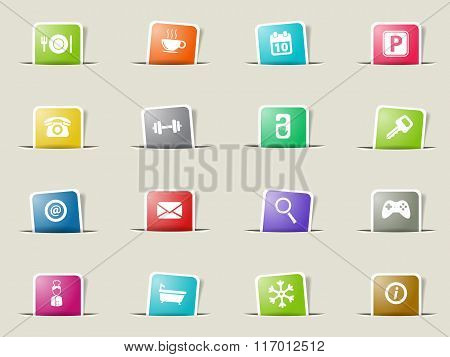 Hotel simply icons