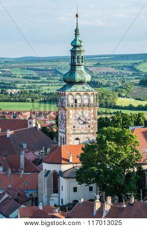 Church of Saint Wenceslas in Mikulov town in Czech Republic