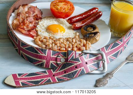 English breakfast diet abstract concept