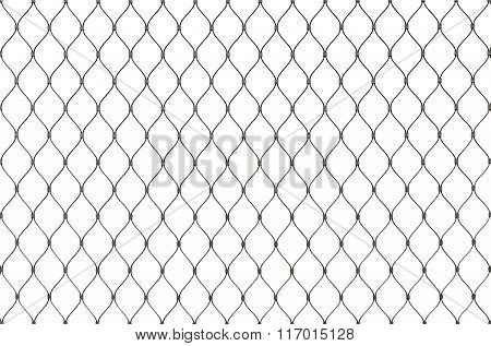 Metal Chain Link Fence Background Texture Isolated