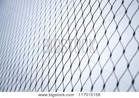 Steel Chain Link Fence Background Texture