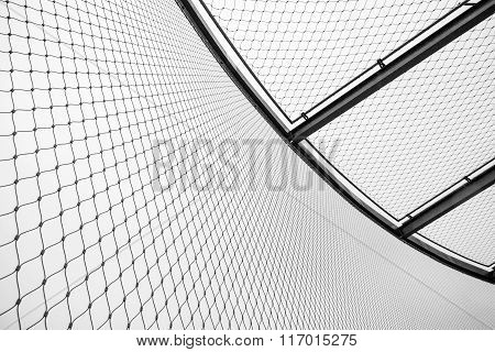 Round Steel Chain Link Fence And Ceiling, Restricted