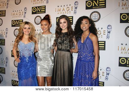 LOS ANGELES - FEB 4:  Victoria Vida, Ysa Penarejo, Mika Abdalla, Genneya Walton at the Non-Televised 47TH NAACP Image Awards at the Pasadena Conference Center on February 4, 2016 in Pasadena, CA