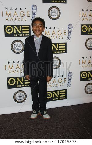 LOS ANGELES - FEB 4:  Miles Brown at the Non-Televised 47TH NAACP Image Awards at the Pasadena Conference Center on February 4, 2016 in Pasadena, CA