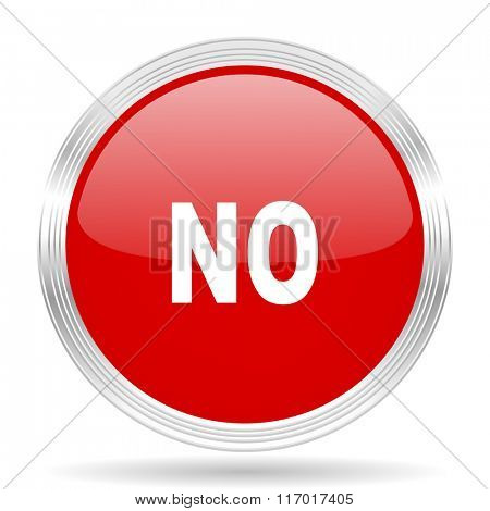 no red glossy circle modern web icon on white background