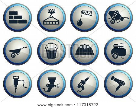 Building equipment icons set