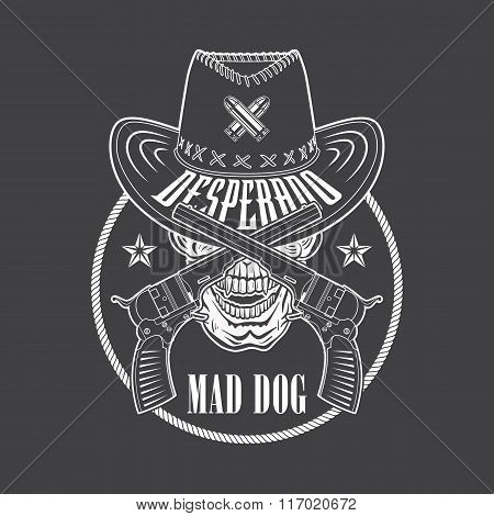 Desperado Cowboy Emblem