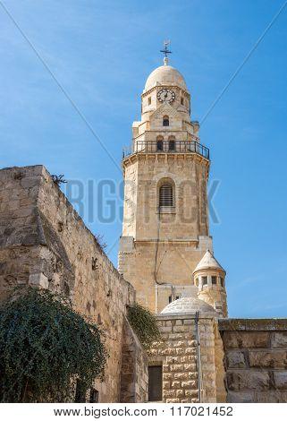 Dormition Abbey on Mount Zion in Jerusalem Israel