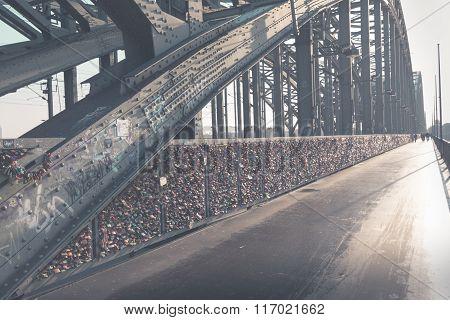 Hohenzollern Bridge In Cologne, Germany.