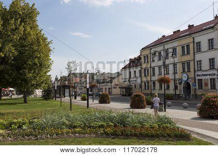 Suwalki, Poland - July 24, 2014: Traditional Architecture In Suwa?ki, Poland.