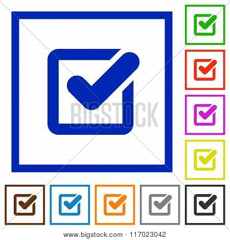 Checkbox Framed Flat Icons