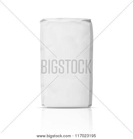 Blank paper flour bag.