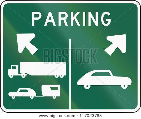 Road Sign Used In The Us State Of Washington - Parking