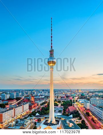 Berlin, Germany skyline.