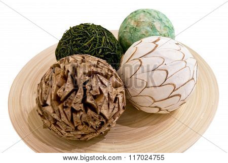 Decorative Paper Balls - Focus On White Ball