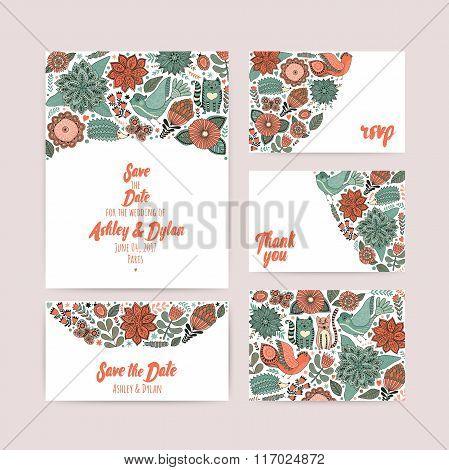 Wedding Invitation template save the date invitation