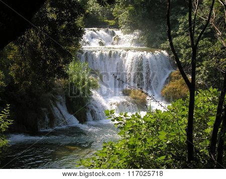 Plitvice Lakes And Waterfall In Croatia