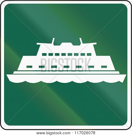 Road Sign Used In The Us State Of Washington - Passenger Ferry