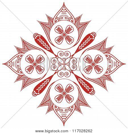 Asian culture inspired  wedding makeup  henna tattoo decoration Shape with oval diagonal elements