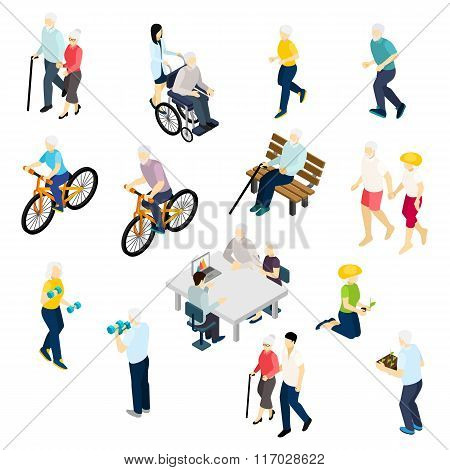 Pensioners Life Isometric Set