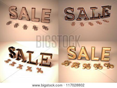 Dimensional Inscription Of Sale Set Of Pictures