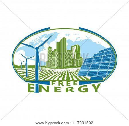 free energy vector logo. Symbols. Sign. Emblem logo