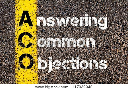 Business Acronym Aco Answering Common Objections