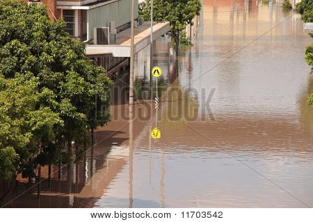 Brisbane, Australia - Jan 13 : Flood  Brisbane South Bank Area January 13, 2011 In Brisbane, Austral