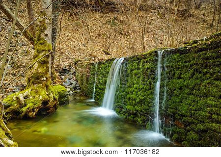 Waterfall on Crazy Mary River, Belasitsa Mountain, Bulgaria