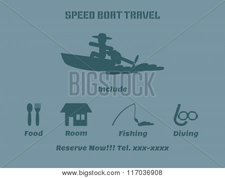 Speed Boat Travel Advertise