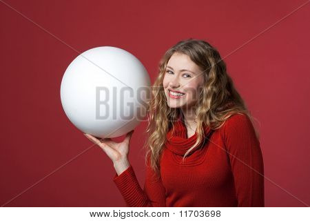 White Big Ball