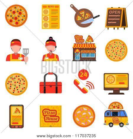 Pizza colored set