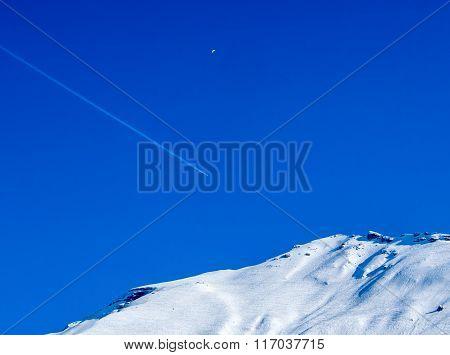 Plane In Blue Sky