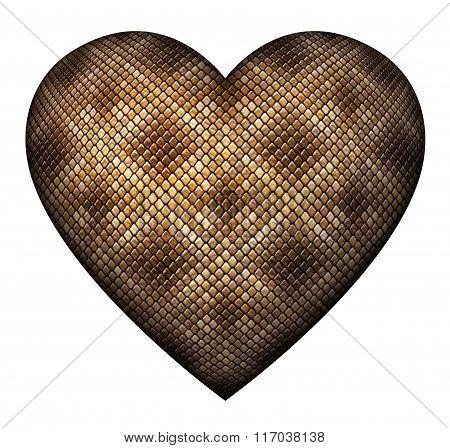 Snake Skin Heart