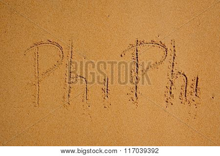 Phi-phi Island  Sign On Sand