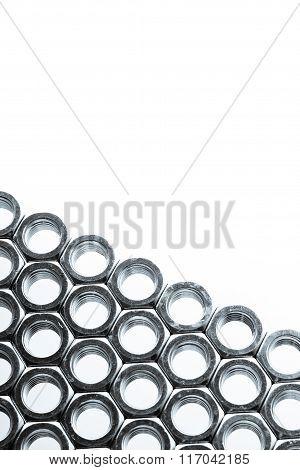 Nut of bolt background